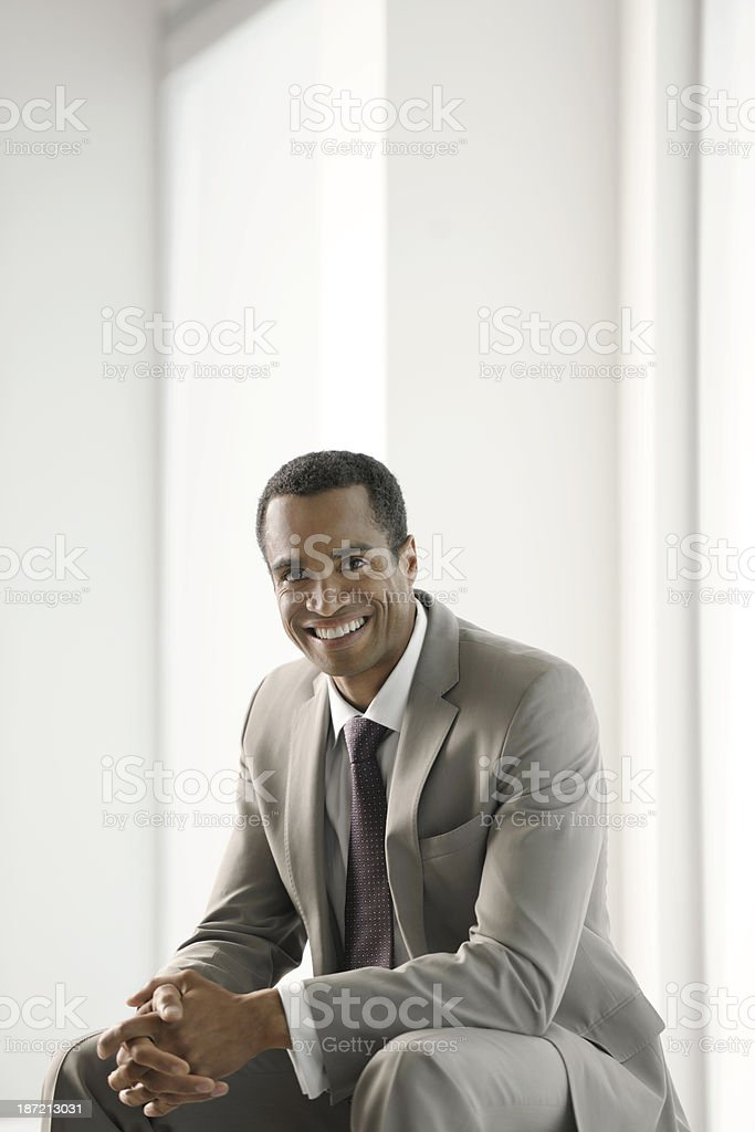 Smiling African Business Man royalty-free stock photo
