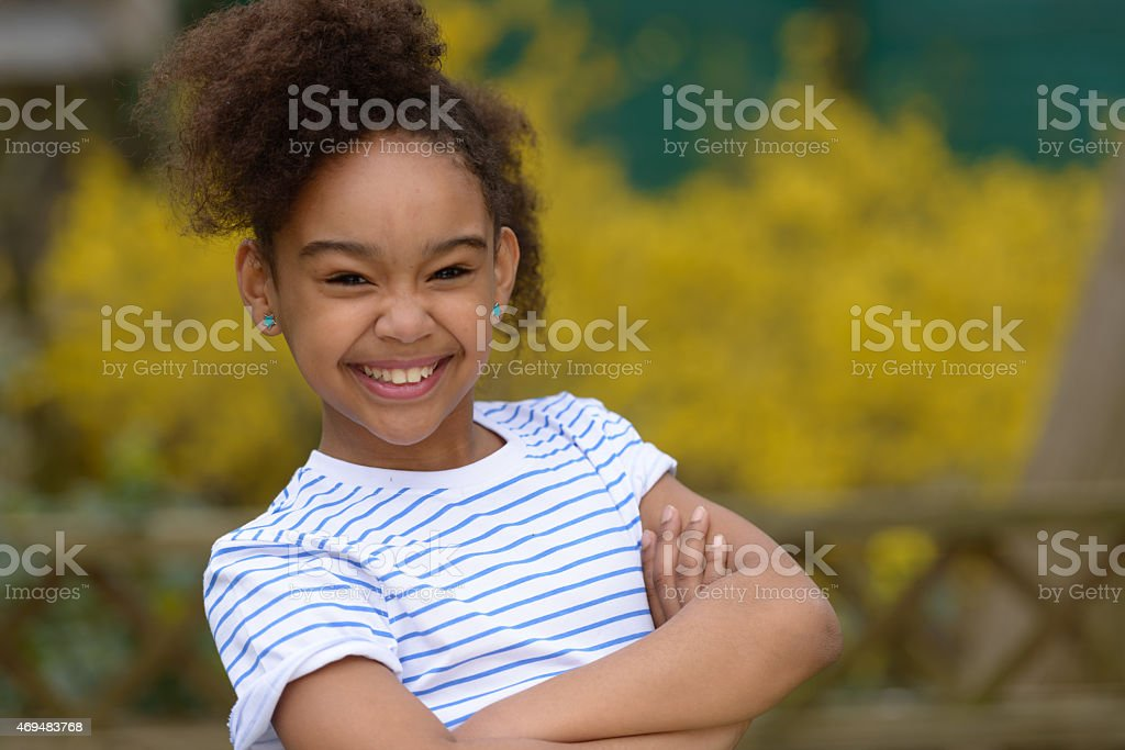 smiling african child stock photo