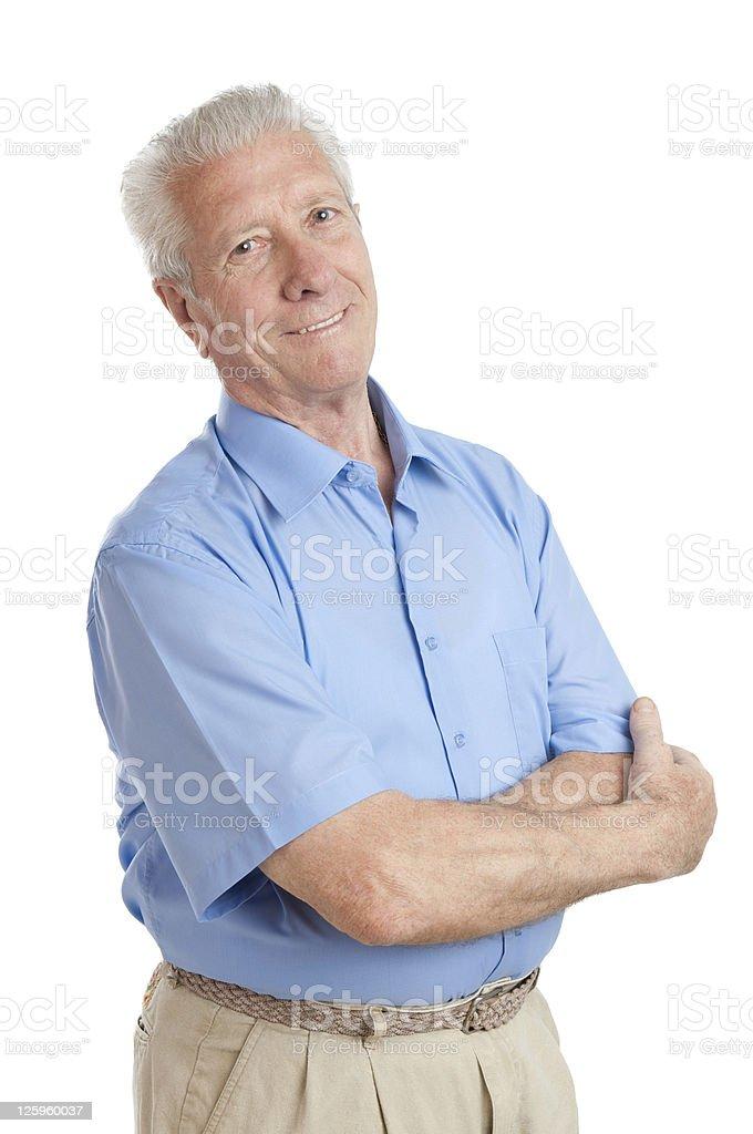 Smiling aged senior man royalty-free stock photo