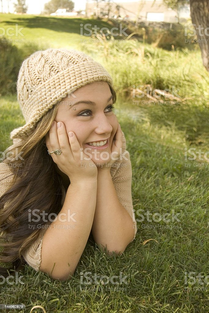 Smiling and Dreaming stock photo