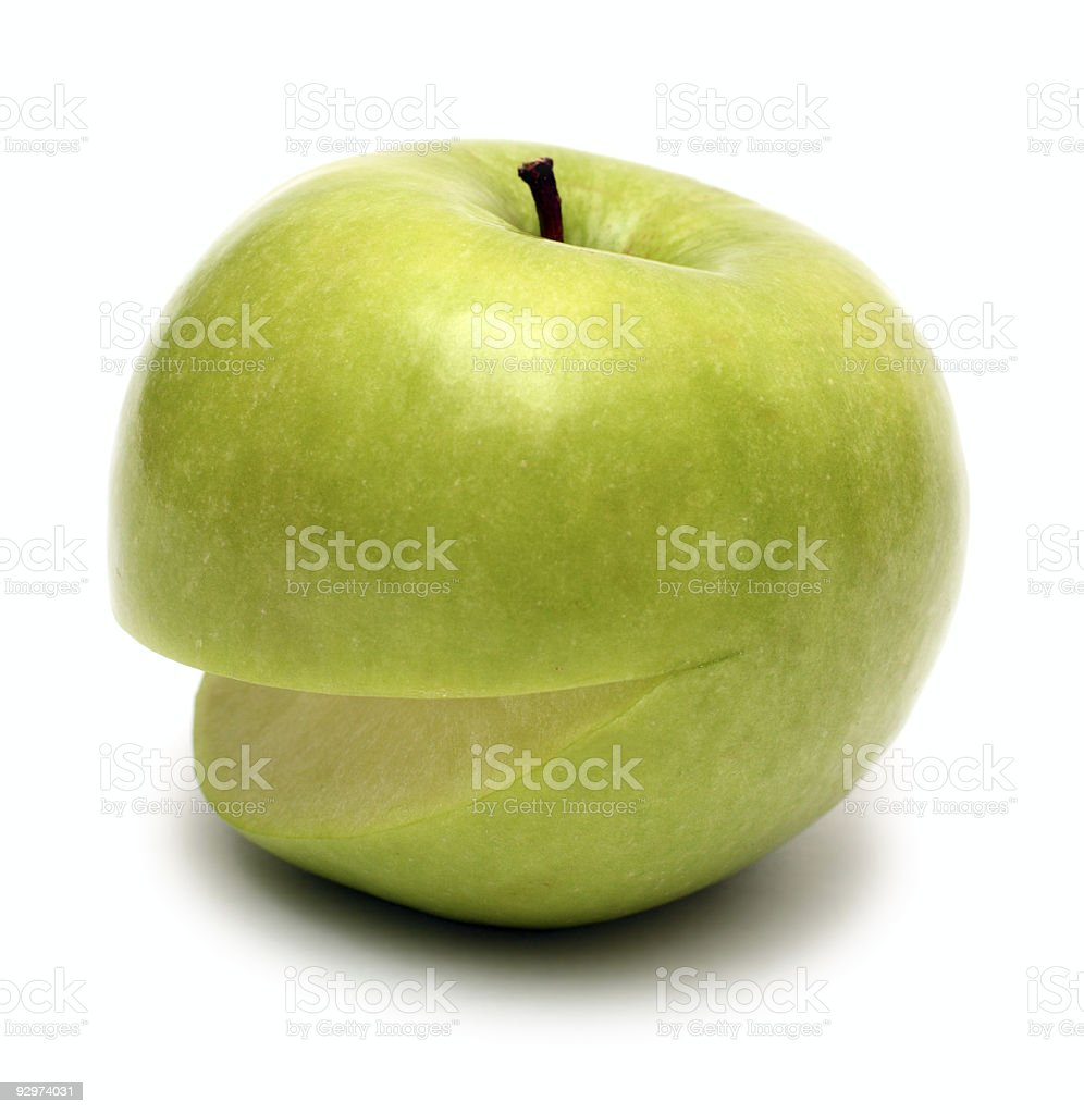 smiling apple royalty-free stock photo