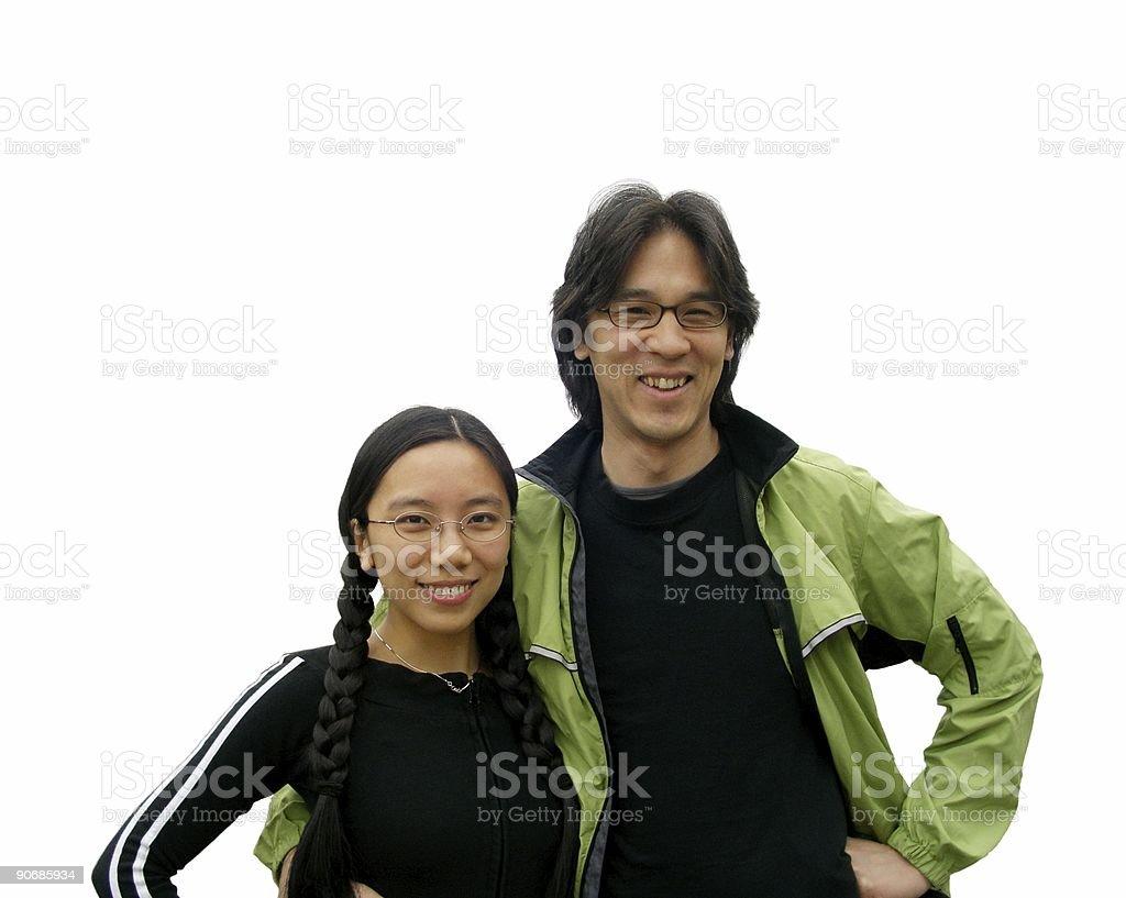 Smiling Asian Couple royalty-free stock photo