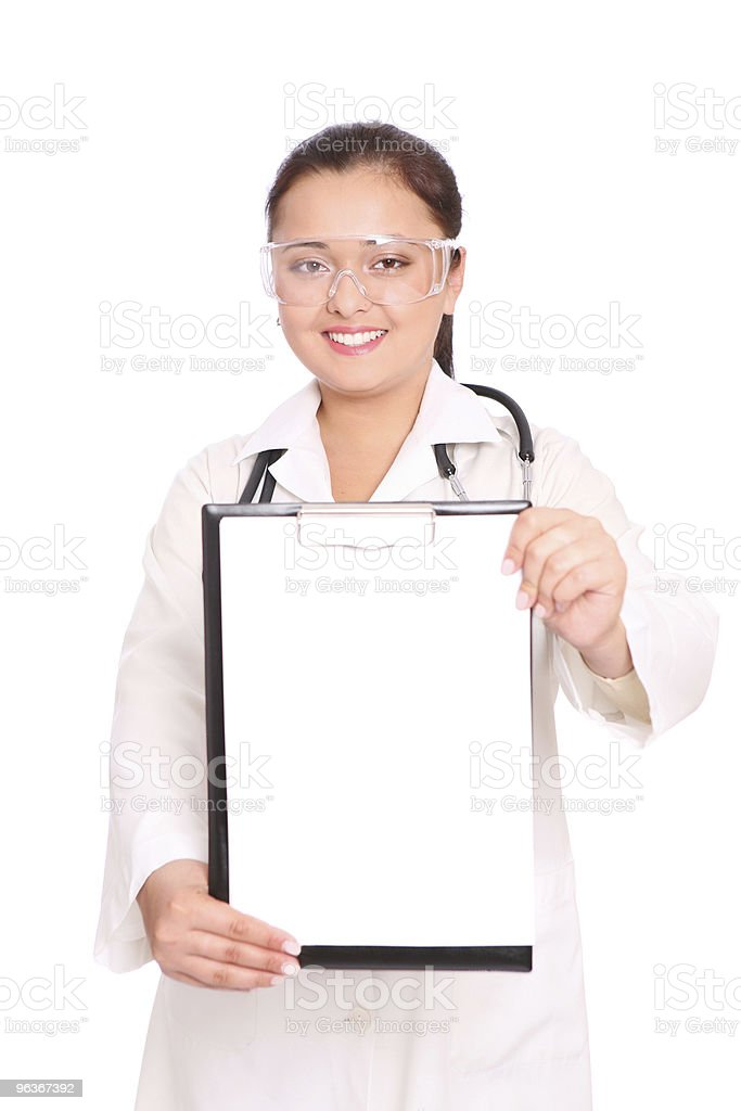 Smiling asian doctor royalty-free stock photo