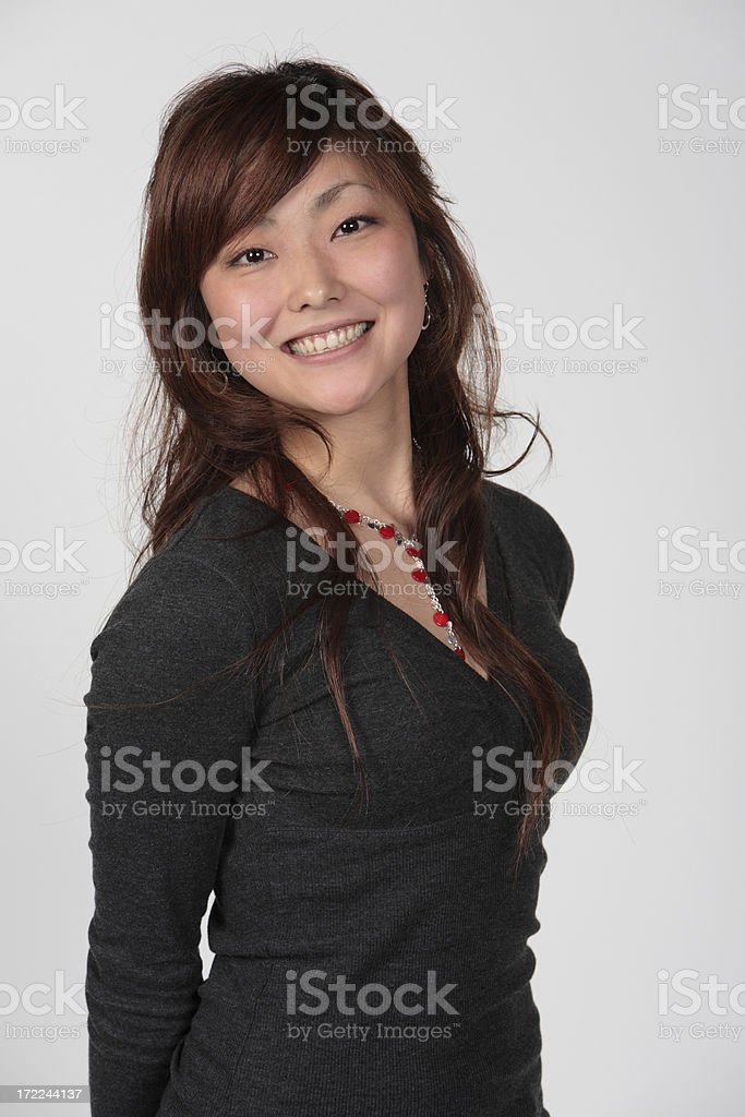 Smiling Asian Girl royalty-free stock photo