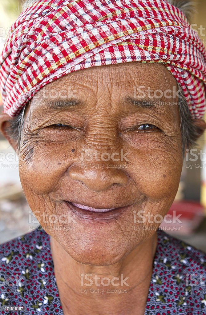 Smiling Asian lady stock photo
