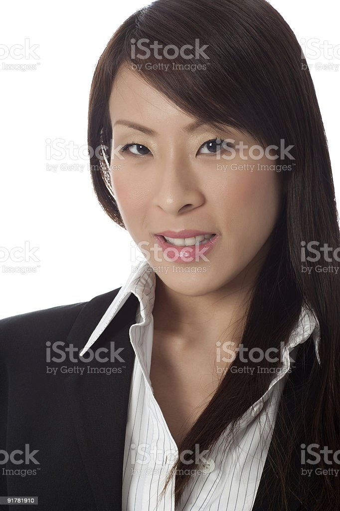 Smiling asian lady royalty-free stock photo