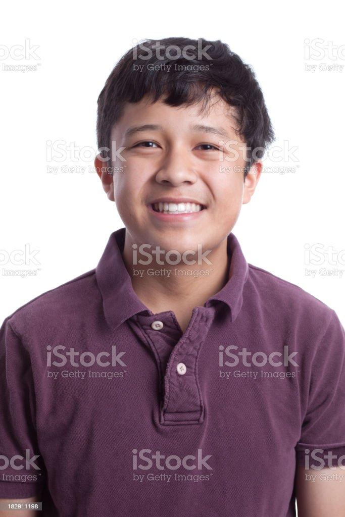 Smiling Asian Teenager royalty-free stock photo