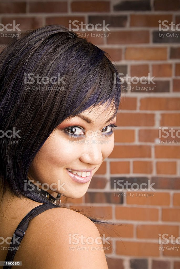 Smiling Asian Woman royalty-free stock photo