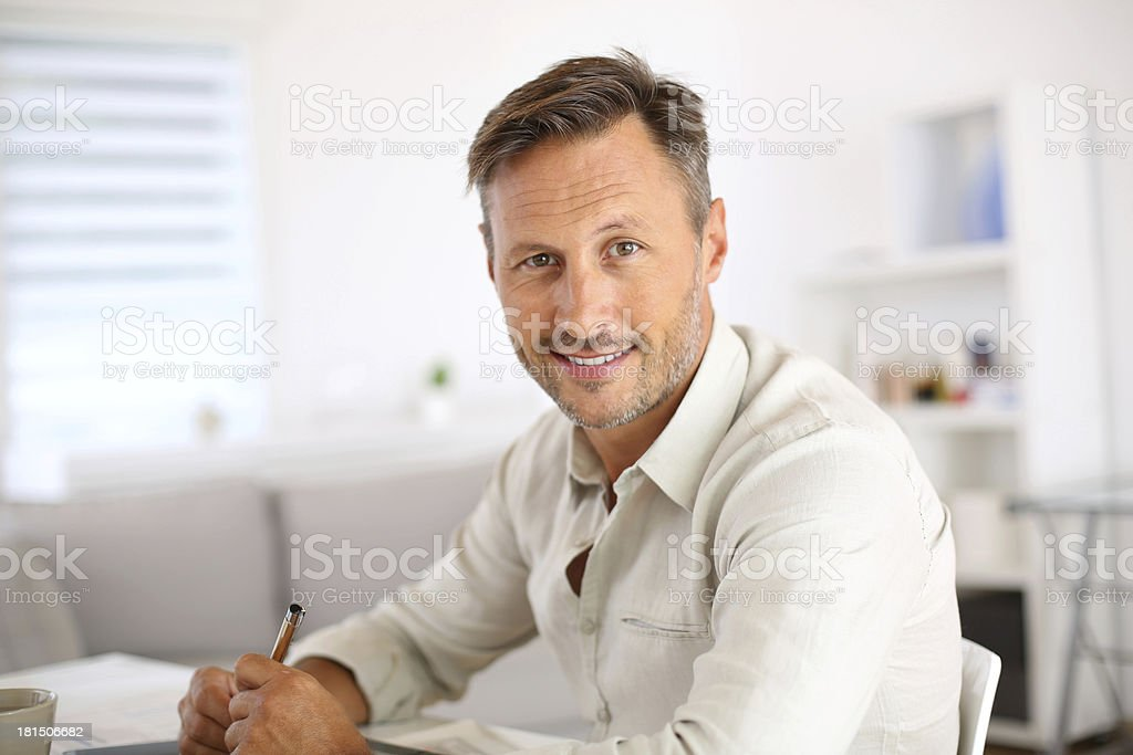 Smiling attractive man royalty-free stock photo