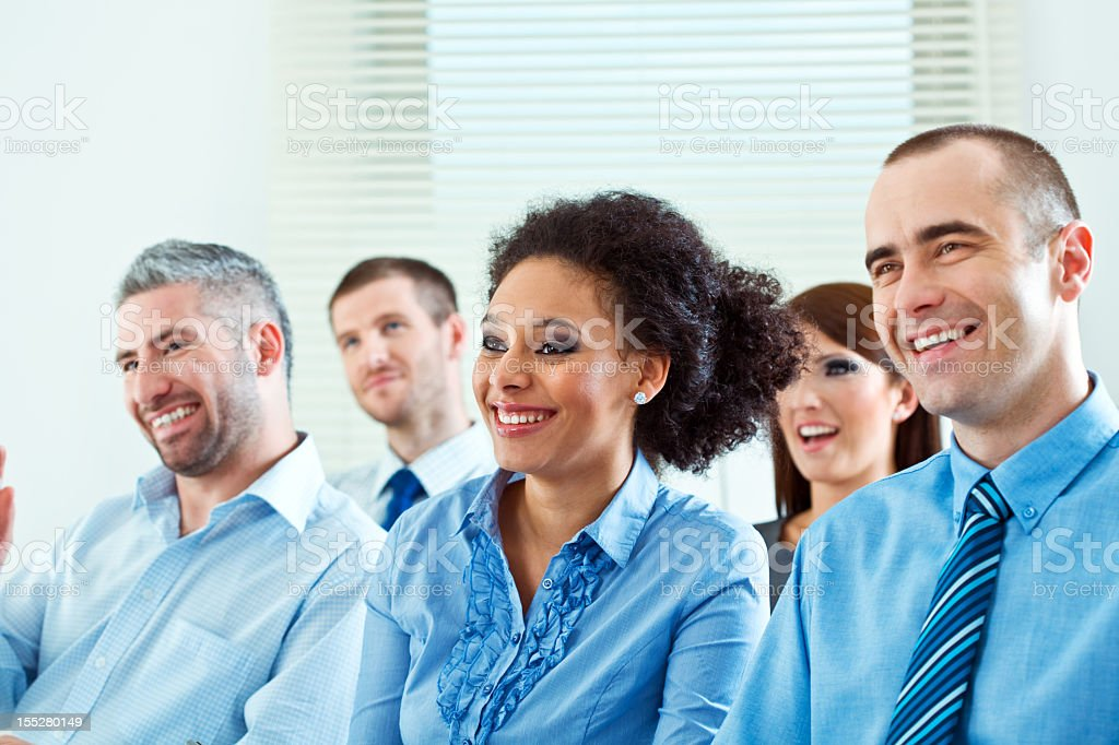 Smiling audience royalty-free stock photo