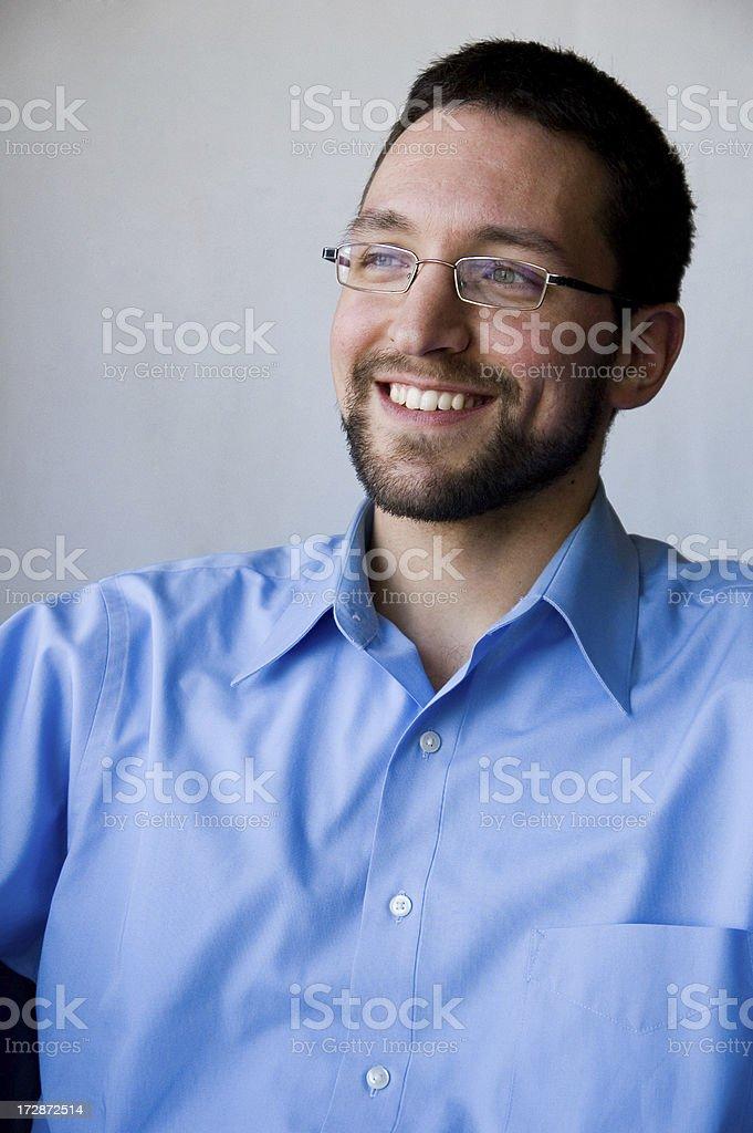 Smiling Away royalty-free stock photo