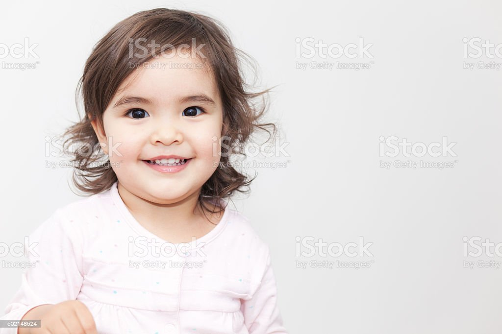 Smiling Baby Girl stock photo