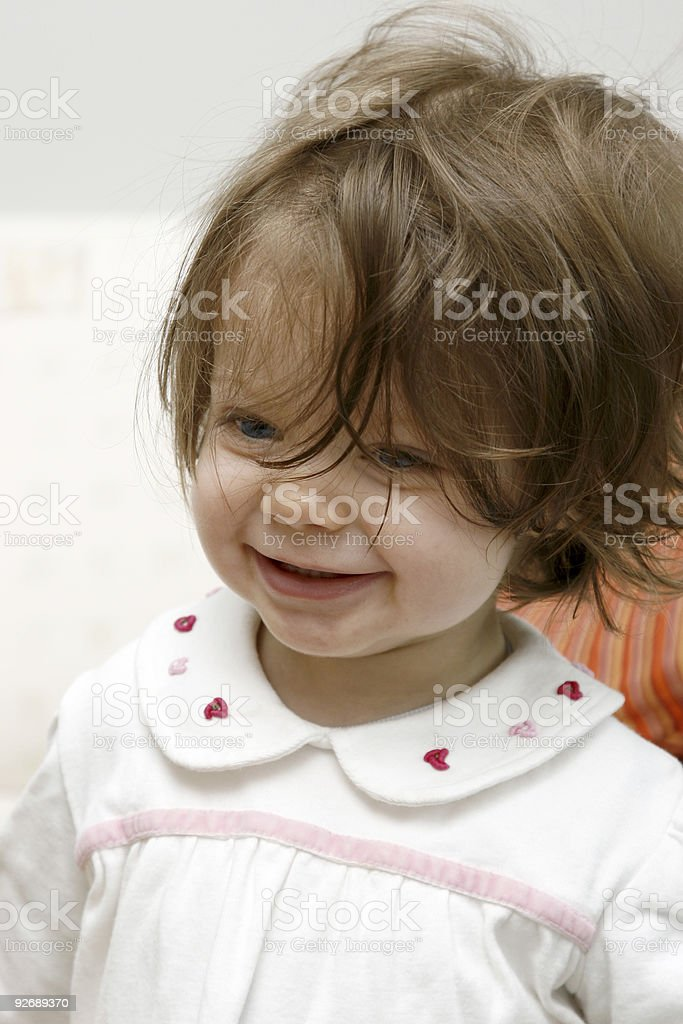 Smiling baby girl royalty-free stock photo