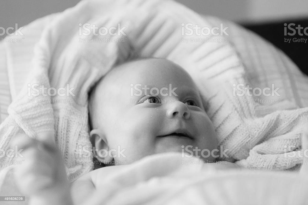 Lächeln baby Lizenzfreies stock-foto