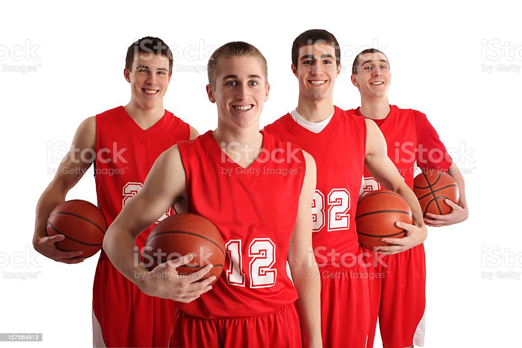 Smiling Basketball Players royalty-free stock photo