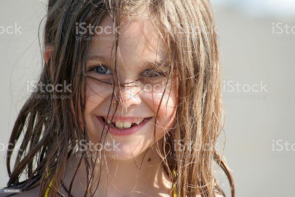 Smiling Beach Girl royalty-free stock photo