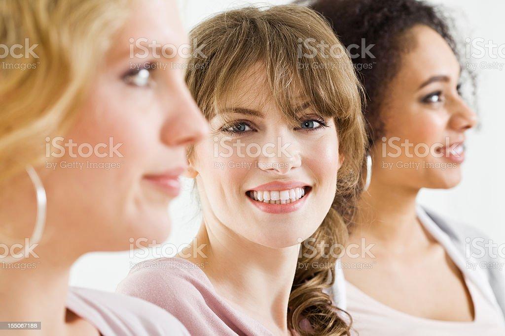 Smiling Beautiful Blonde stock photo