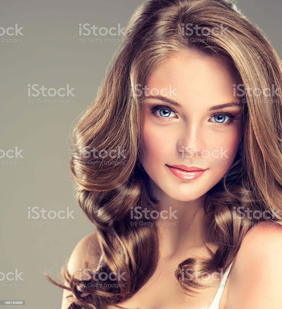 Smiling Beautiful girl stock photo