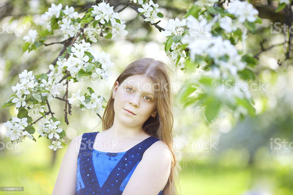 Smiling beautiful tween girl royalty-free stock photo