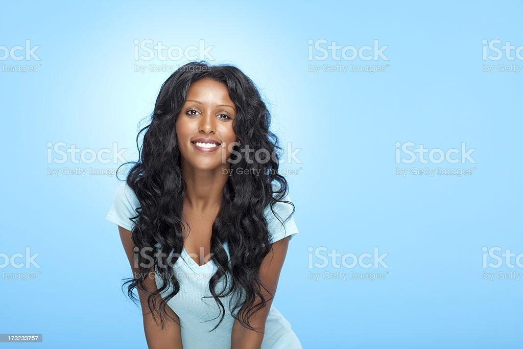 Smiling beautiful woman. royalty-free stock photo