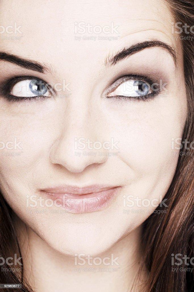 Smiling beautiful woman stock photo
