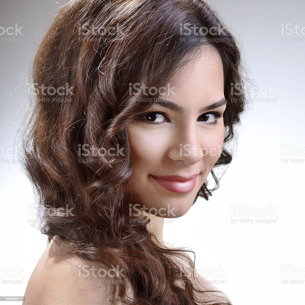 Smiling beautiful young woman royalty-free stock photo
