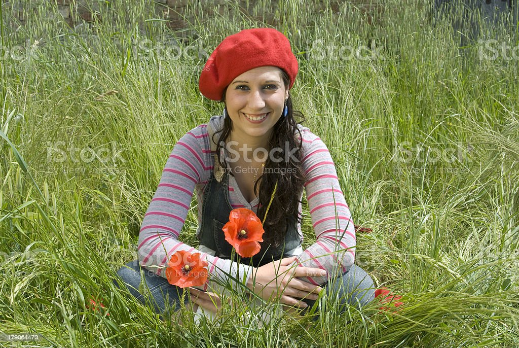 Smiling beauty in nature royalty-free stock photo