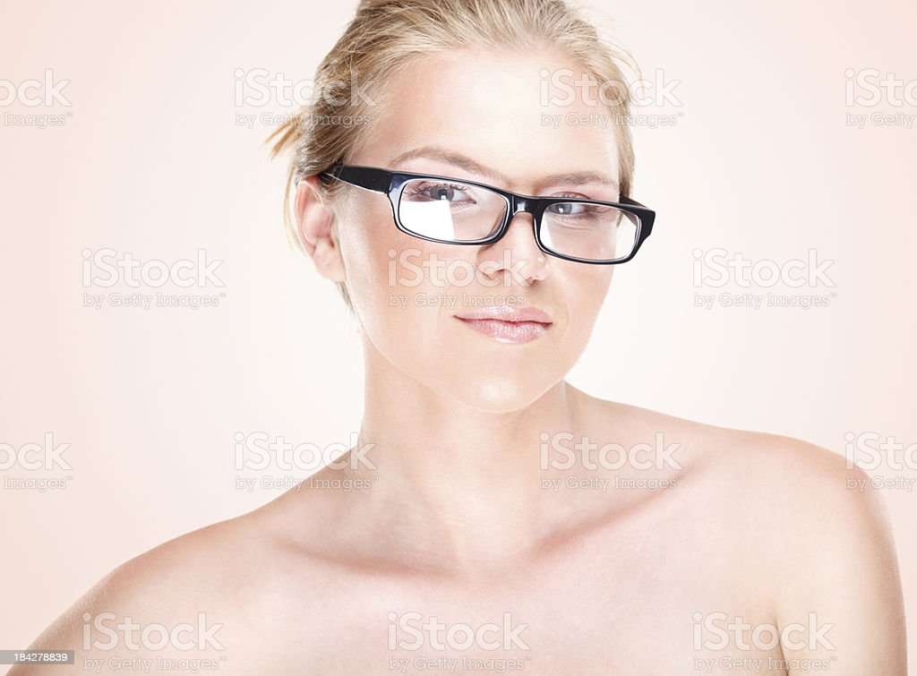 Smiling beauty with eye glasses royalty-free stock photo