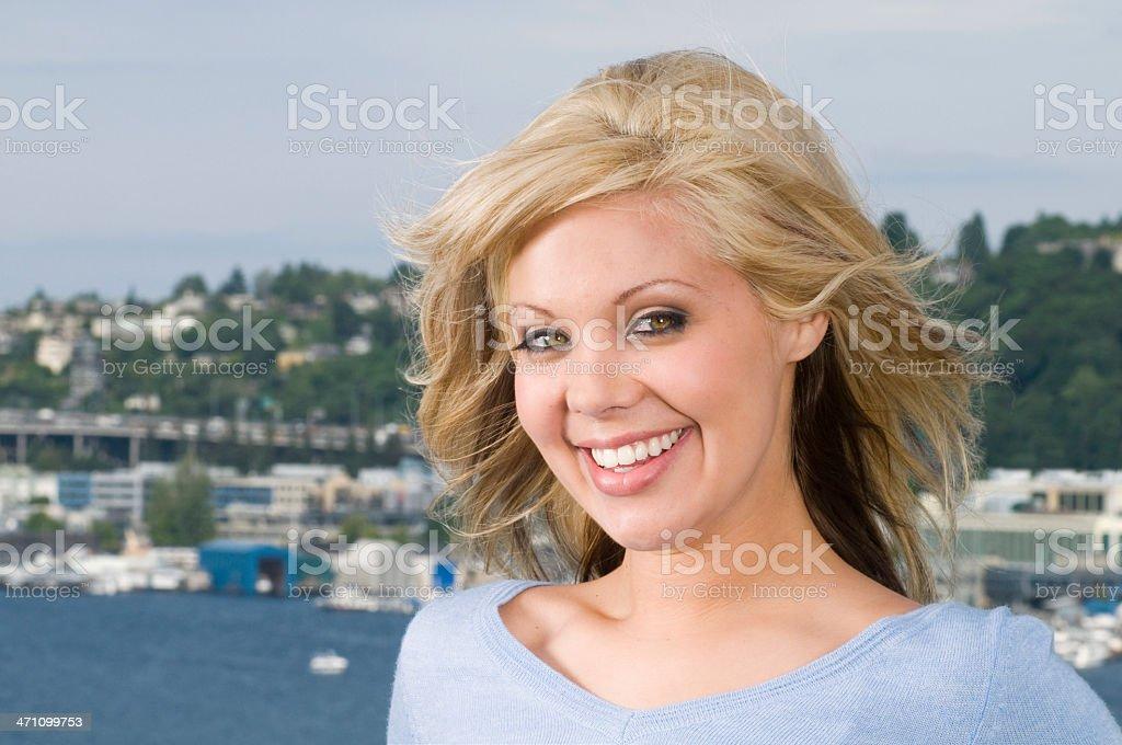 Smiling Blonde Woman stock photo