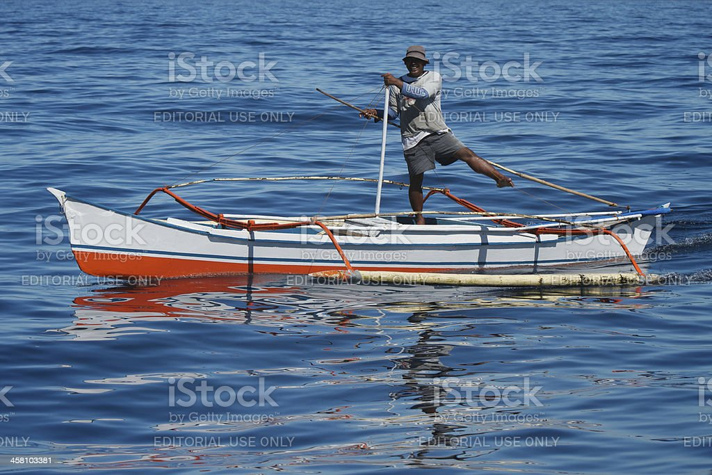 Smiling boatman royalty-free stock photo