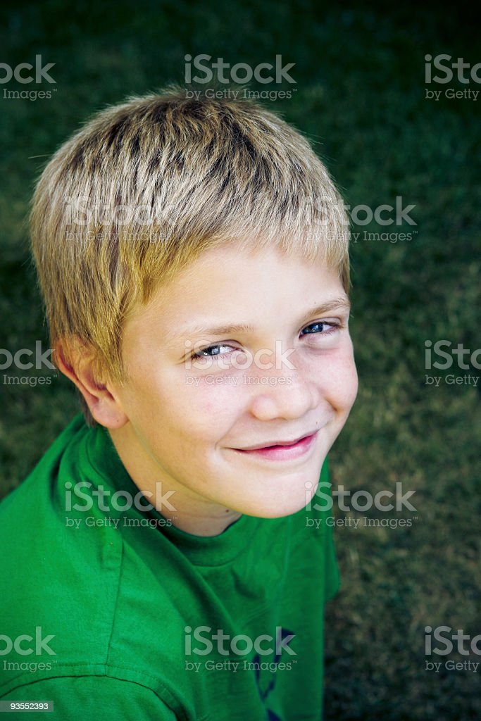 Smiling boy royalty-free stock photo