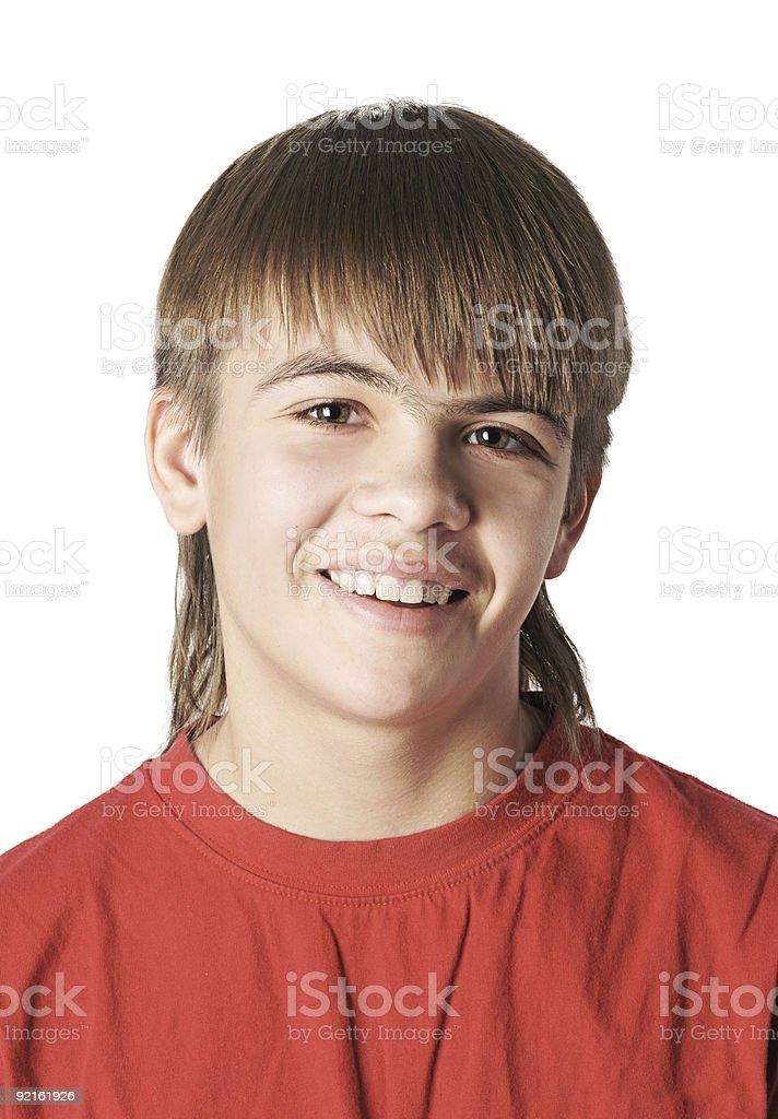 Smiling boy portrait stock photo
