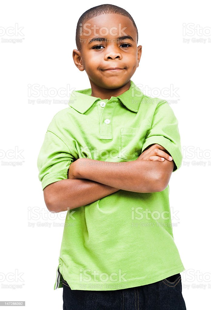 Smiling boy standing royalty-free stock photo