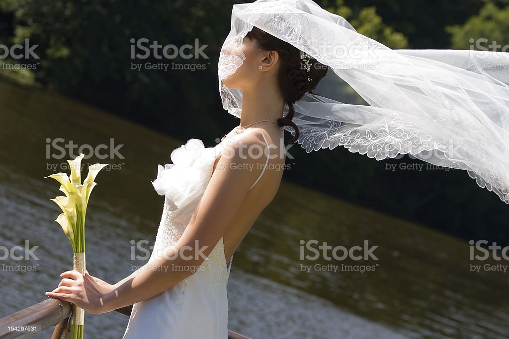 smiling bride royalty-free stock photo