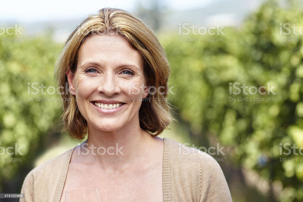 Smiling brightly stock photo