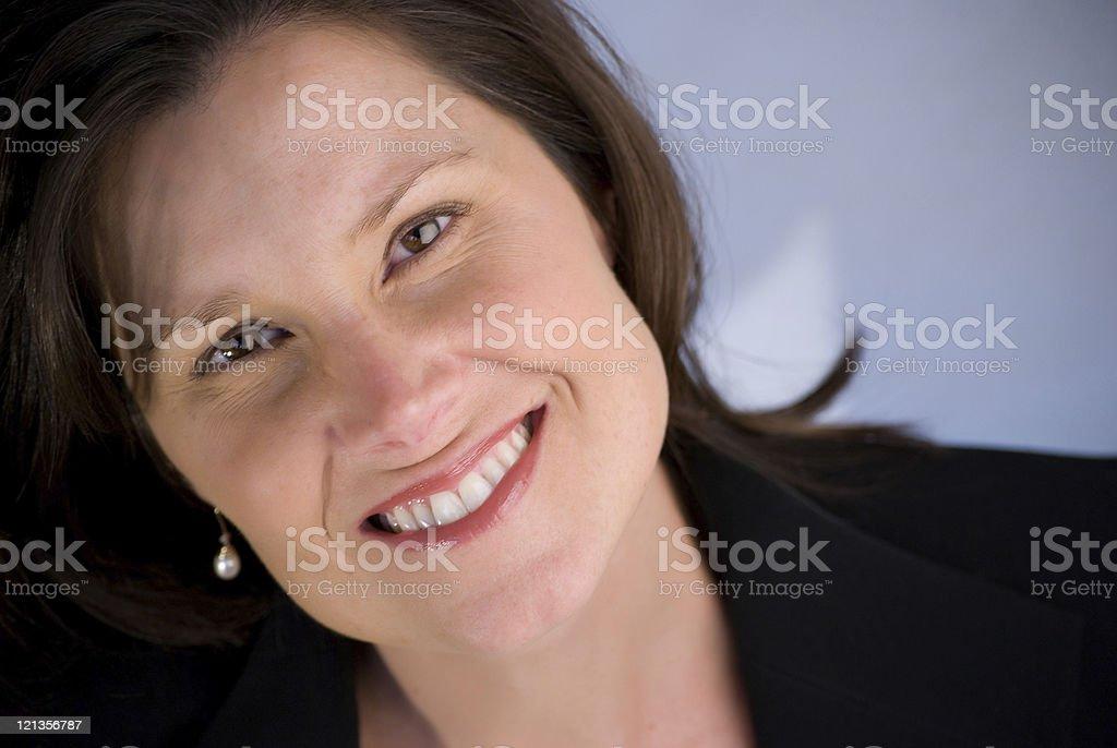 Smiling Brunette stock photo