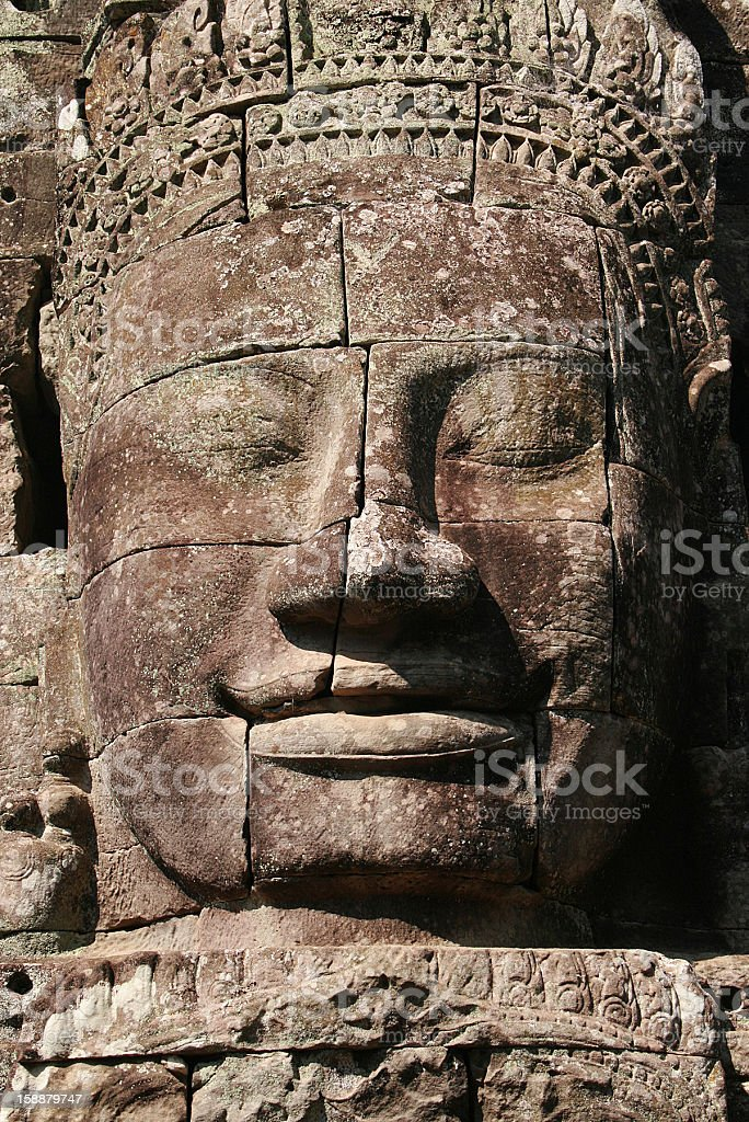 Smiling Buddha in Siem Reap royalty-free stock photo