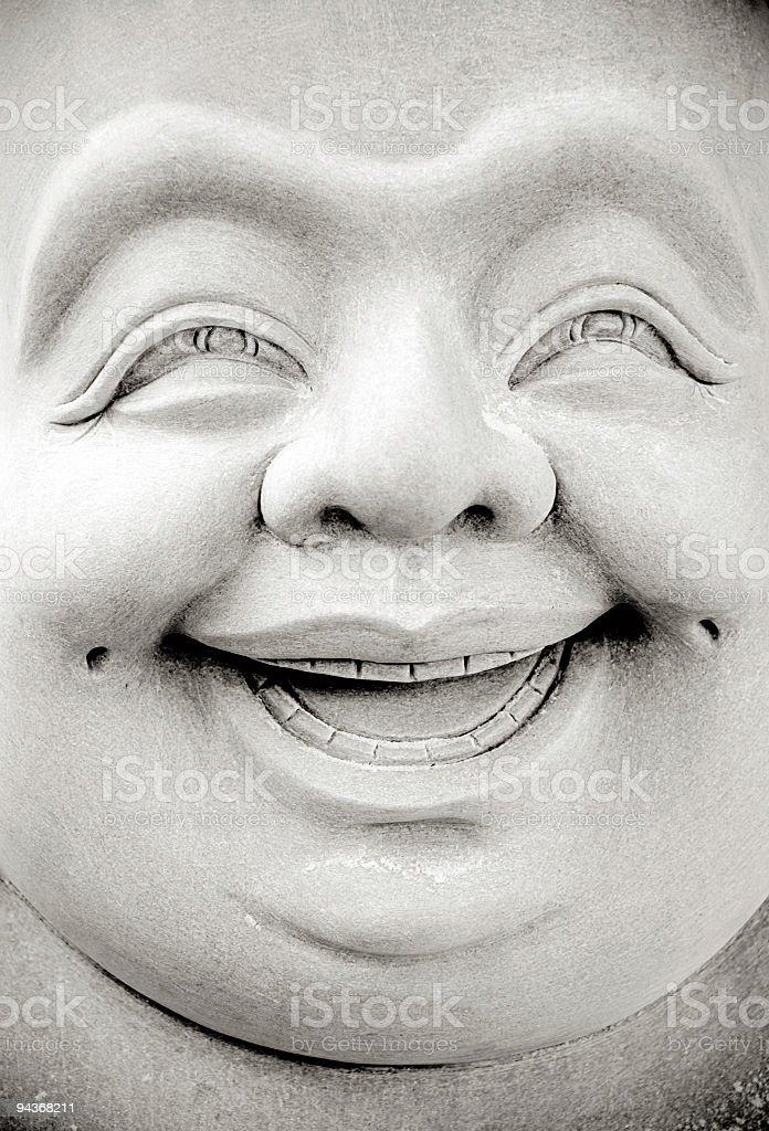 Smiling Buddha royalty-free stock photo