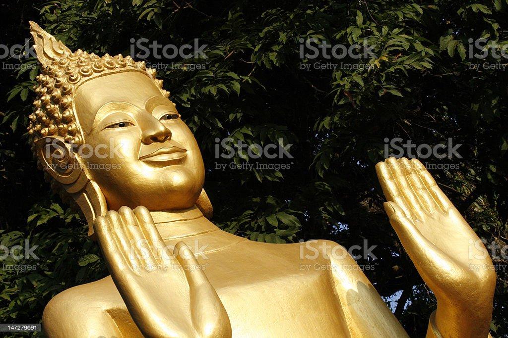 Smiling Buddha Statue royalty-free stock photo