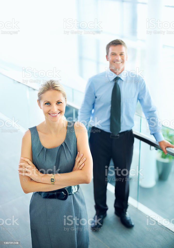 Smiling business associates royalty-free stock photo