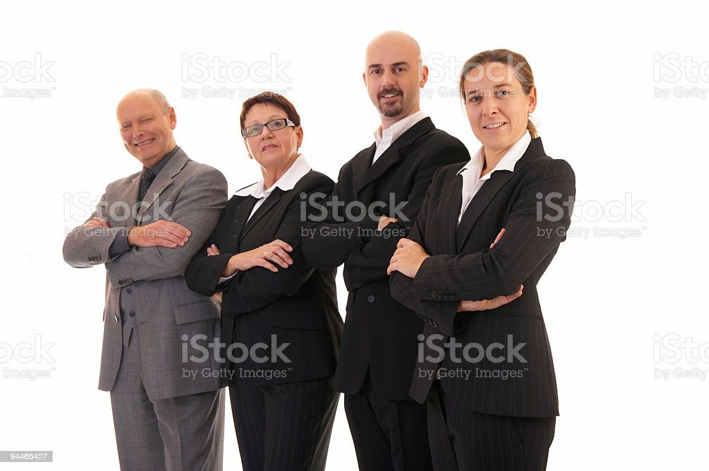 smiling business family stock photo