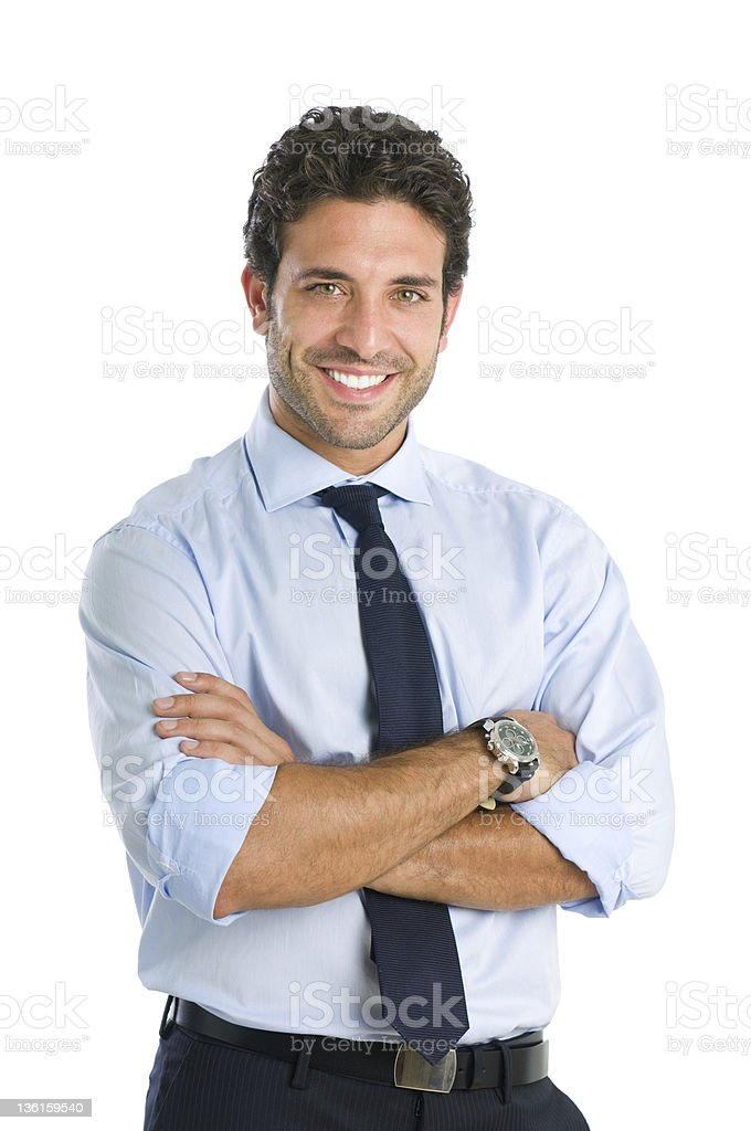 Smiling business man stock photo