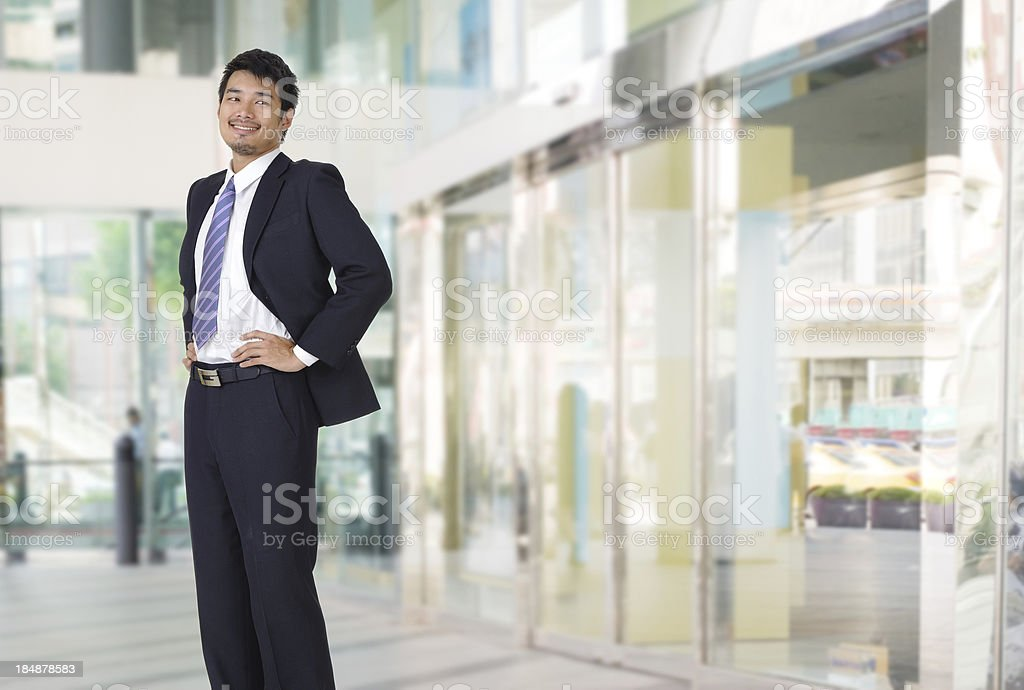 Smiling business man royalty-free stock photo