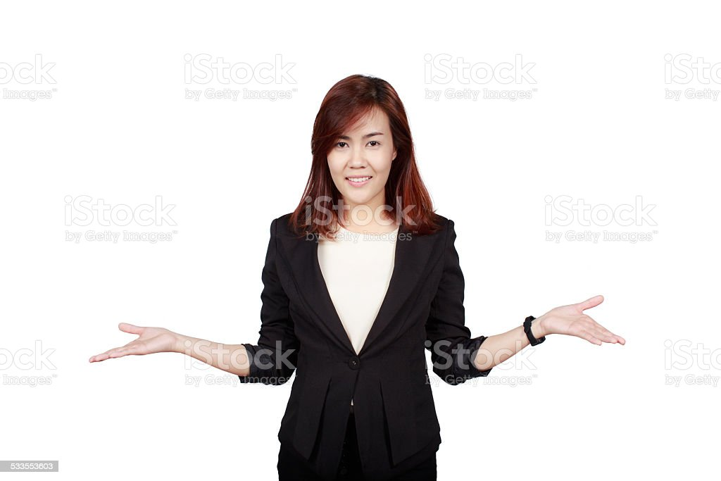 Smiling business stock photo