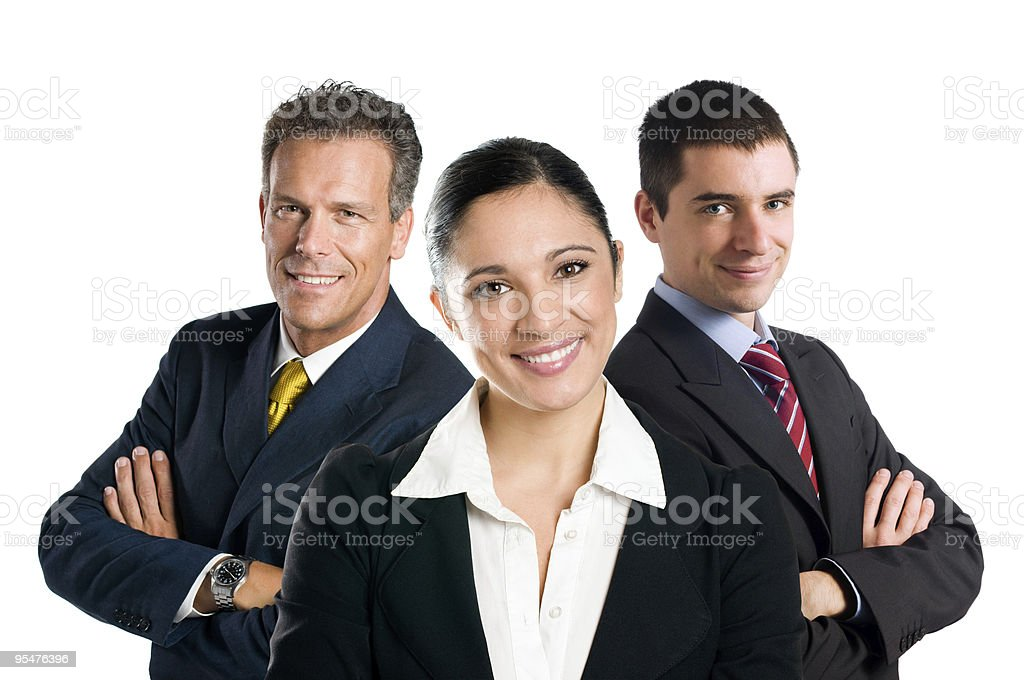 Smiling business team stock photo
