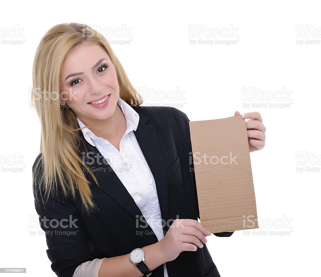 Femme d'affaires souriante photo libre de droits