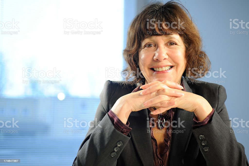 Smiling Business Woman Portrait royalty-free stock photo