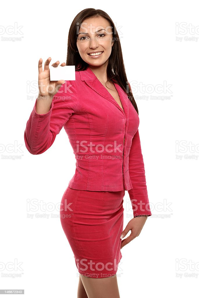 smiling businesswoman in jacket royalty-free stock photo