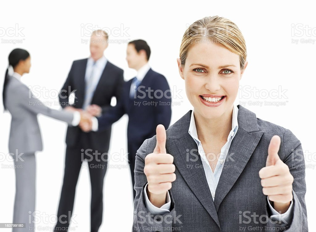 Smiling Businesswoman - Isolated royalty-free stock photo