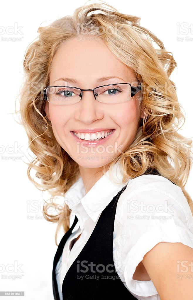 smiling businesswoman royalty-free stock photo